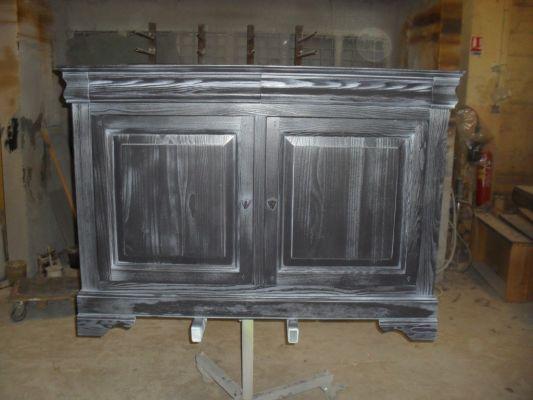 Armoire De Bureau En Pin : Restauration avec peinture sur meuble arles finitions de